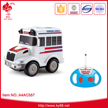 China factory wholesale price rc ambulance toy car for kids