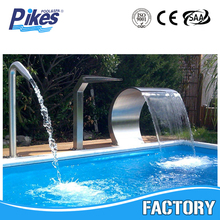 hot sale Stainless Steel Swimming Pool Water Blade Waterfall Outdoor Waterfall,pool spa waterfall