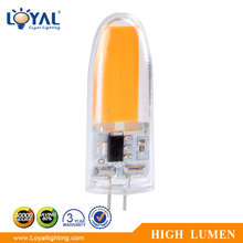 High lumen IP20 indoor filament cob 4w 3w 2w 1w g4 led bulb 12v dc