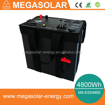 4800Wh mobile energy storage system for camping and home use