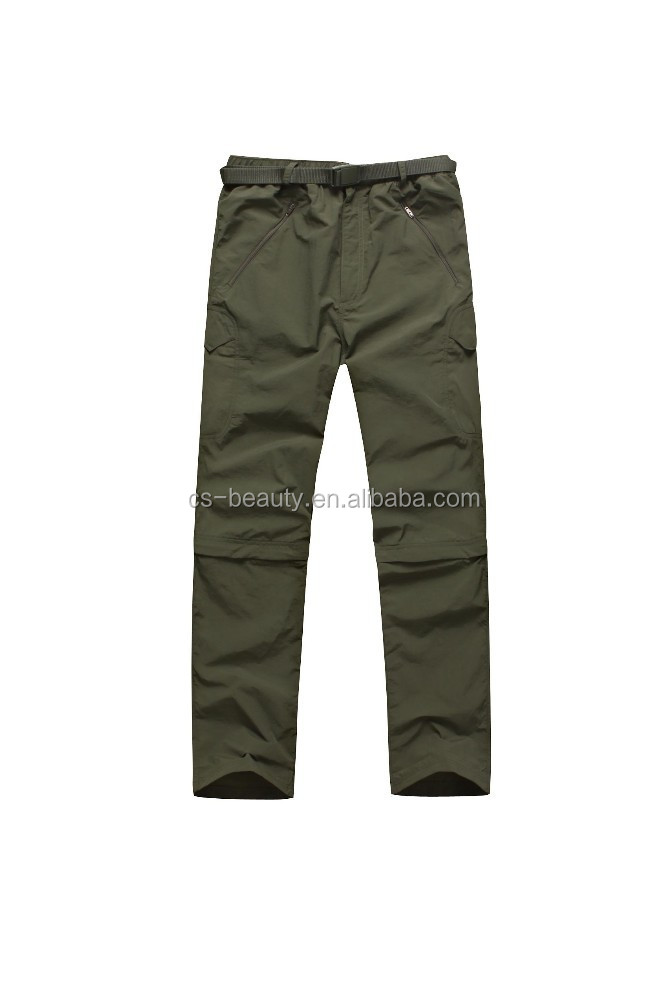 Outdoor hiking hunting tactical Breathable Quick Drying Two-Sections Casual Travel tactical shorts Pants green colors