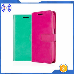High quality book style flip leather phone case for samsung galaxy s7