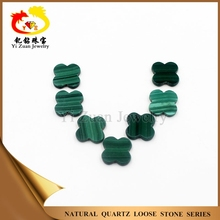 Noble wealth attractive four leaf clover lucky natural rough malachite