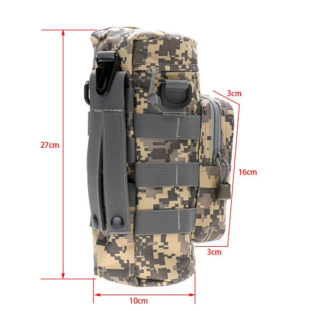 waterproof Camouflage outdoor Tactical water bottle bag Pouch