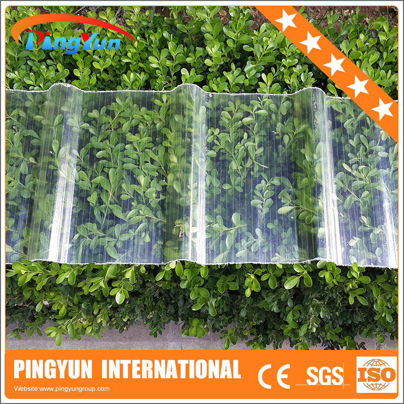 FRP transparent roofing sheets/UV-Proof fiberglass plastic roof sheet/cheaper clear plastic roofing sheet