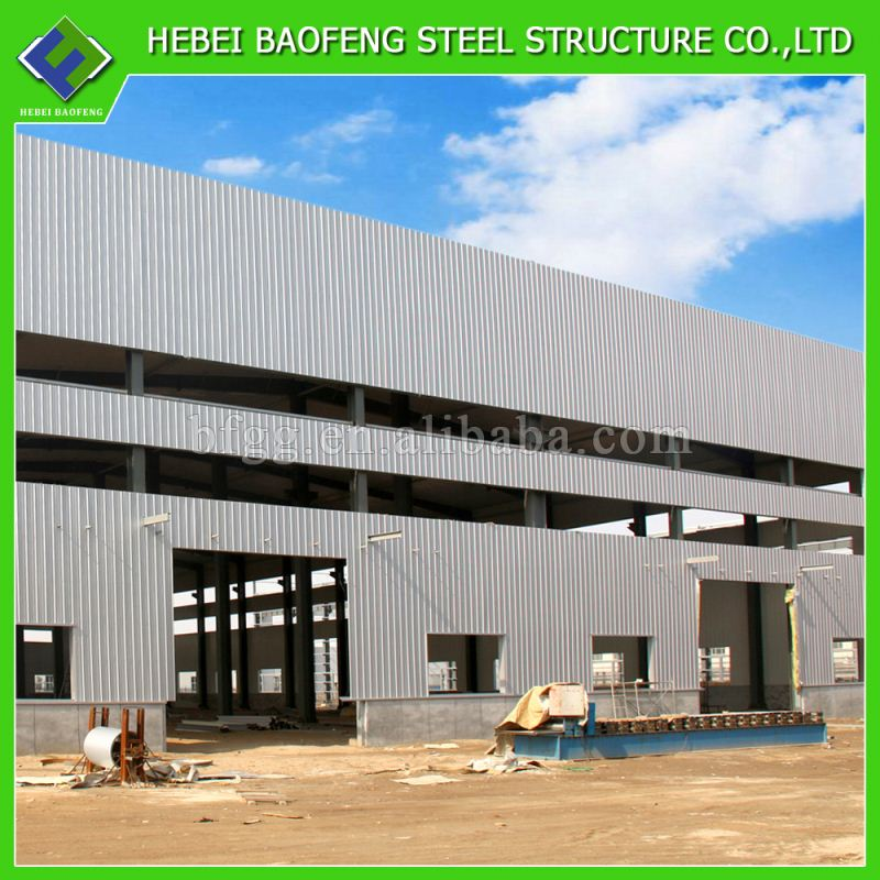 colour cladding pre fab metal buildings steel warehouse kit