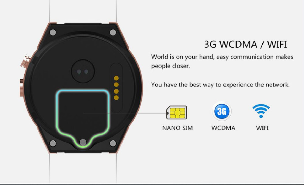 2017 Factory Sale Wifi 4G 3G Smart Watch Android dual sim Waterproof MTK6580 Quad core KW88 Smart Watch Mobile Phone