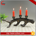 Polyresin ornament tea light antlers candle holder