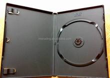 Wholesale 10 years in cd dvd manufacturing field 1 disc plastic black dvd case