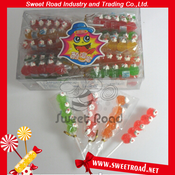 Sweet Road Pearl String Shaped Confectionery Jelly Lollipop Candy