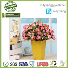 Biodegradable Decorative Round Nursery Flowerpot with tray