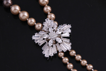 High Quality Zircon Brooch For Pearl Necklace