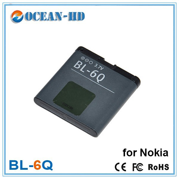 BL-6Q lithium ion polymer customized battery for nokia all models