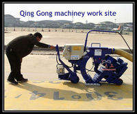 Shot cleaning machine for road marking removal
