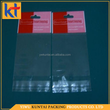 Yiwu factory wholesale custom printing transparent packing plastic opp food bag.food grade plastic bags