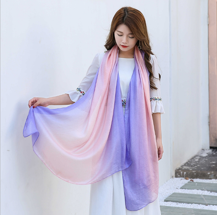 Plain rainbow glitter color women beach scarf hijab shawl