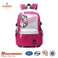 Active unique funny custom colored printing nylon teens school bags/.