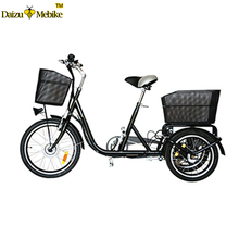 "20"" 3 wheel adult electric tricycle 250w brushless motor 36v 10ah lithium battery tricycle electric for old person"