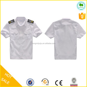 Short sleeve security shirts uniforms, white guard uniforms shirts, cheap security guard uniforms