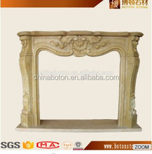 top quality Modern yellow Stone marble Fireplace