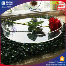 Round high quality acrylic trays displaying goods wholesale lucite tray professionally design