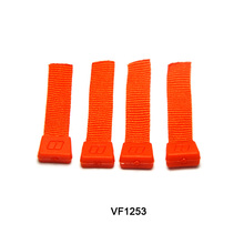 Hot sale red ribbon zipper slider woven plastic rubber zipper puller