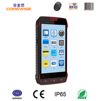 5 inch color touch screen rugged wireless Android handheld PDA label scanner with Wifi 3G GPS