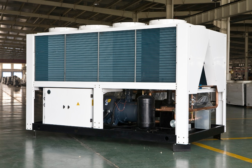 Air cooled screw water chiller and heat pump of supplier