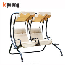 Metal Frame Canopy Double Swing Chair For Garden/Balcony