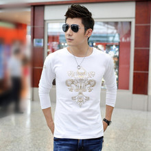 M50788M 2014 fitness clothing t shirt coolman,gold print t shirt printing for men