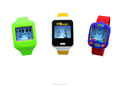 2015 silicone kid watch interactive with phone APP , wearable ways on neck, on bag and on wrist