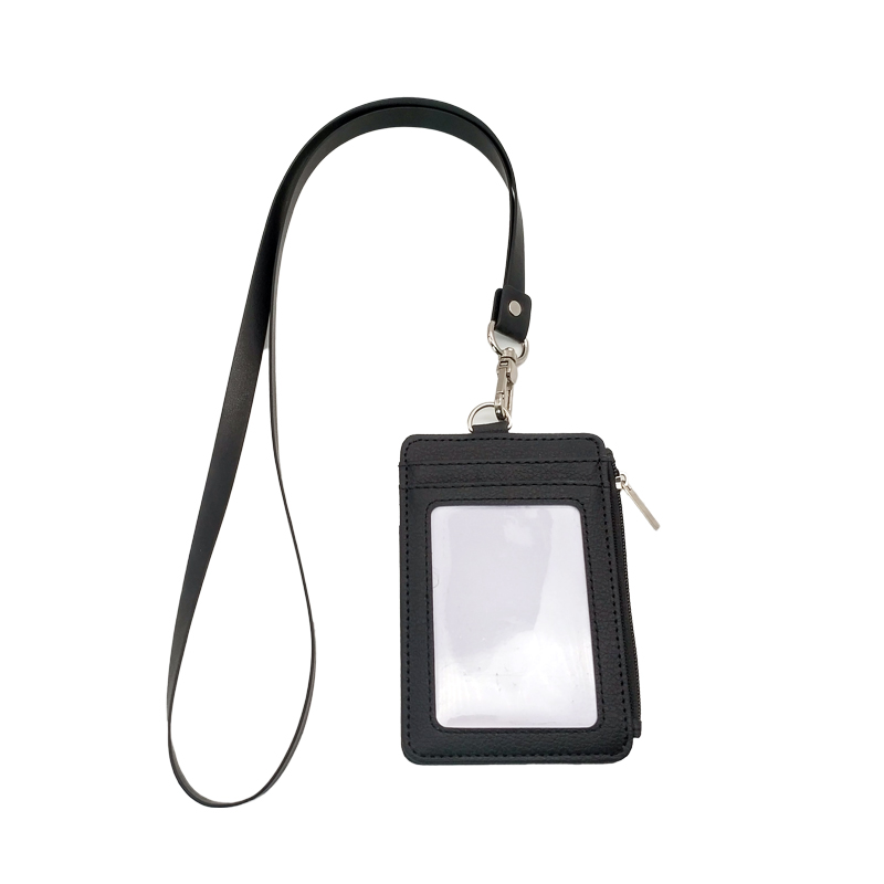 Fashion Retractable Reel Neck Id Badge holder Soft Leather Lanyard With Swivel Hook