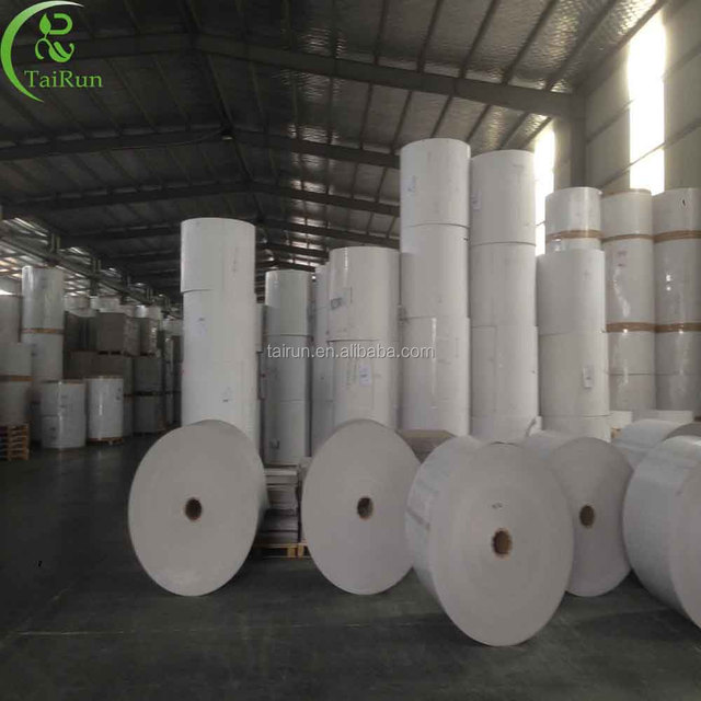 Recycled pulp style coated duplex board paper in white face grey back