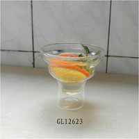 pyrex Heat resistant double wall drinking glass