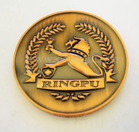 Embossed 3D Brass Lion Coin