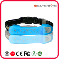 led Dog Collar Cover with Paw print Led warning light