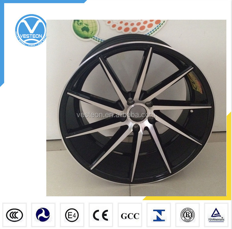 Classic design 15-20 inch pcd 100/108/112/114.3/120mm CVT alloy car rims