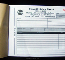 customized bill invoice book sample delivery receipt
