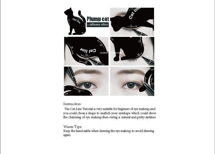 New 10 IN 1 Pattern Quick Makeup Eyeliner stencils