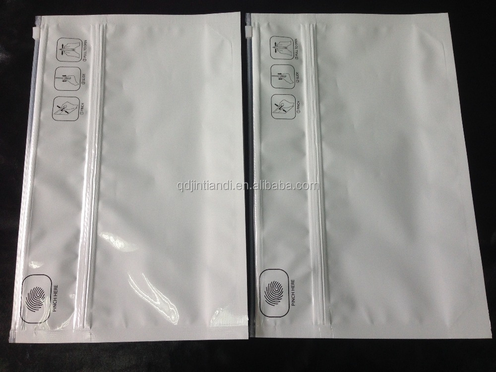 Child Proof Baby Resistant Resealable Aluminum Foil Plastic Packaging Zip Lock Bag/Double Zip Lock Plastic Bag/Zipper Lock Bag