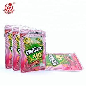 three side seal bags aluminum foil pouch with zipper top