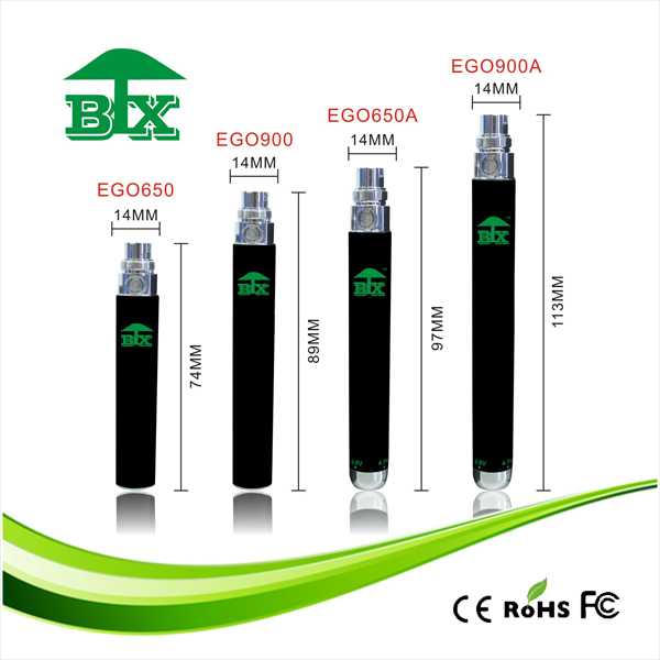 E cigarette vape pen Ego 1100mah Twist Battery Variable Voltage 3.3V - 3.8V - 4.3V - 4.8V