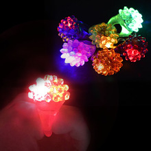 High quality wedding Party Favor led party light flashing bumpy ring light up led flashing candy jelly rings