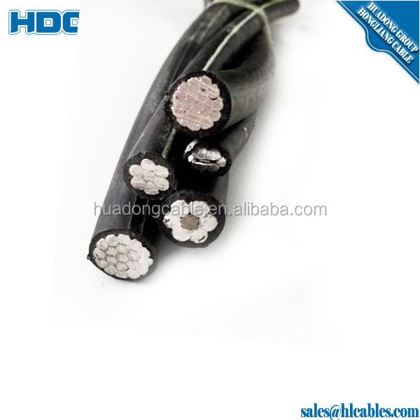 AAC No. 1/0 polyethelene insulated Poly AAC Cable Cumquat