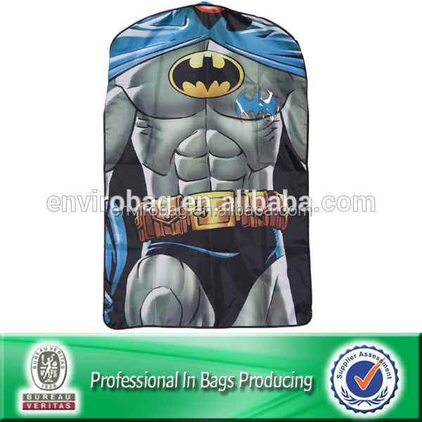 Lead Free Suit Cover Full Color Design Polyester Garment Bag
