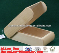 new design unfinished decorative wooden box for candy /2014 new wooden cigarette box /cheap wooden case box for sunglass