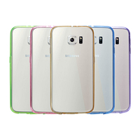 Ultra-slim fit shock-proof protective pc tpu phone case for samsung galaxy S6