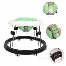 China Wholesale Fascol CE Certified Adjustable 8 Wheels Folding Green Child Baby Walker Multi-function Walking Assistant