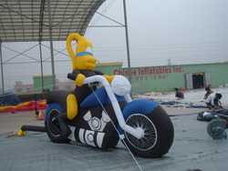 high quality cheap used inflatable motorcycle/ inflatable motorcycle cartoon/inflatable blower motor