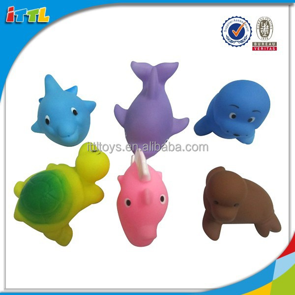 2015New Product Funny Vinyl Animal Baby Toys, sea world animal toy sets for kids jolly baby toy